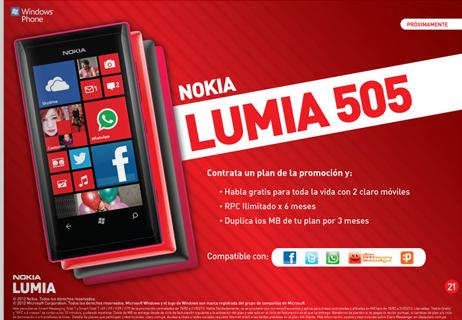 Lumia 505 claro