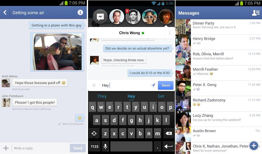 facebook messenger burbujas