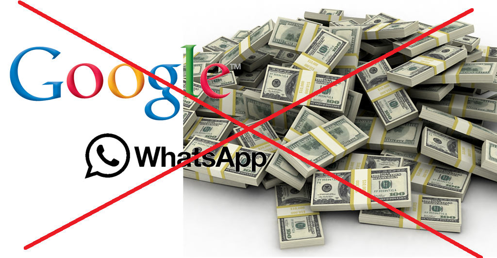 google no whatsapp