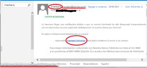 falso correo de Interbank