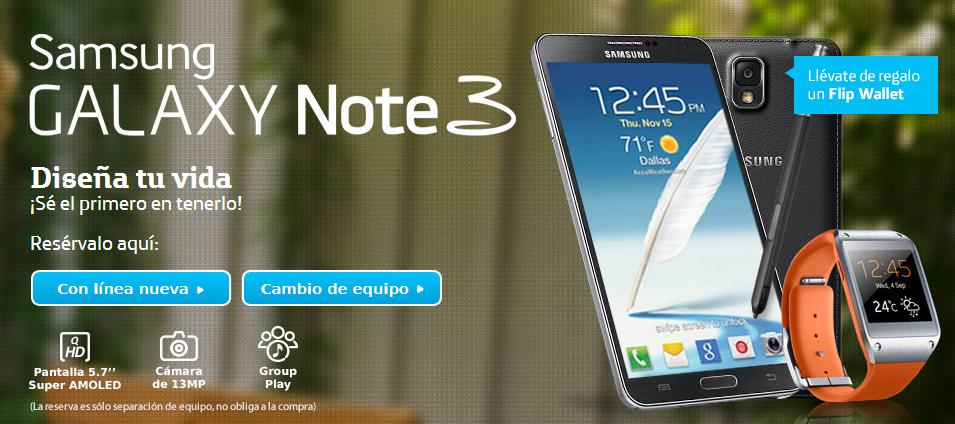Pre venta Galaxy note 3 y Gear Movistar