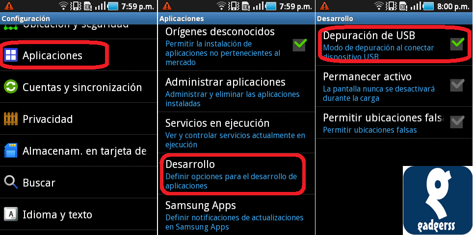 Root Samsung Galaxy Ace GT-S5830L con Android 2.2.1 (Froyo) - Gadgerss