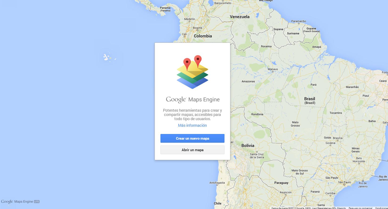 crea tus propios mapas personalizados con google maps engine gadgerss. Black Bedroom Furniture Sets. Home Design Ideas