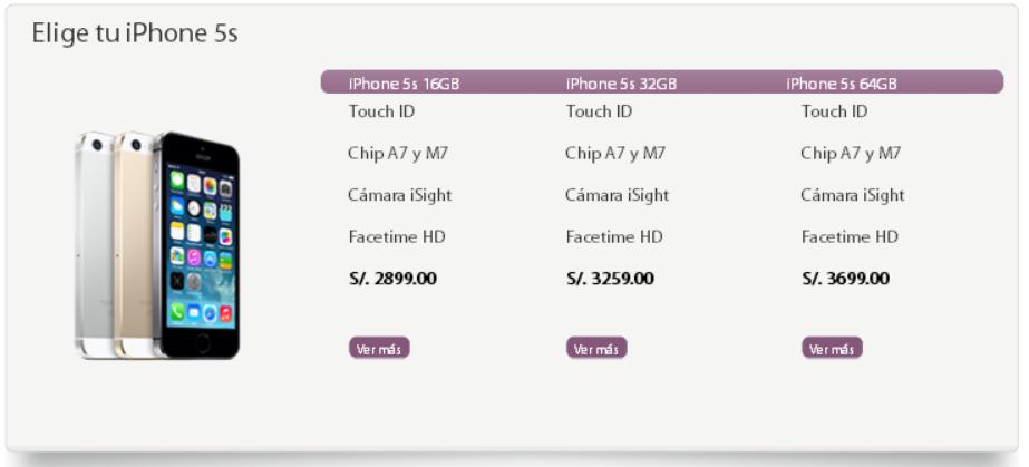 precios iphone 5s iplace